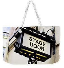 Stage Door Sign Weekender Tote Bag