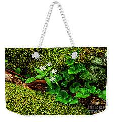 Star Chickweed Mossy Rock Weekender Tote Bag