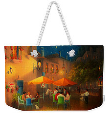 Starry Night Cafe Society Weekender Tote Bag by Joe Gilronan