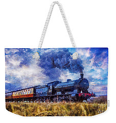 Steam Train Weekender Tote Bag by Ian Mitchell