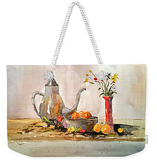 Still Life Weekender Tote Bag by Larry Hamilton