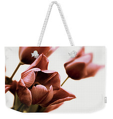 Weekender Tote Bag featuring the photograph Still Life Tulips by Jessica Jenney
