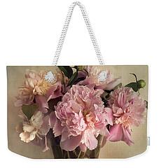 Still Life With Pink Peonies Weekender Tote Bag by Jaroslaw Blaminsky