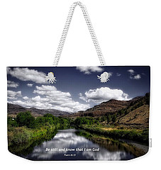 Weekender Tote Bag featuring the photograph Stillness by Lynn Hopwood