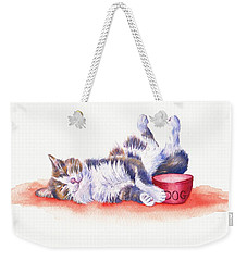 Stolen Lunch Weekender Tote Bag by Debra Hall
