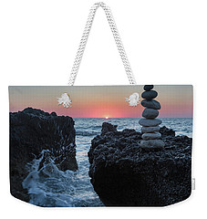 Stone Tower By The Beach Weekender Tote Bag