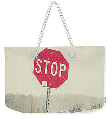 Weekender Tote Bag featuring the photograph Stop by Edward Fielding