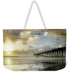 Stormy Sunrise At Johnnie Mercer's Pier Weekender Tote Bag