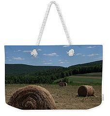 Straw Bales Weekender Tote Bag