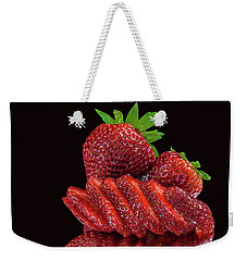 Strawberries Weekender Tote Bag by Shirley Mangini