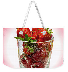 Strawberry Dessert Weekender Tote Bag by David French