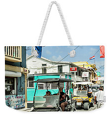 Weekender Tote Bag featuring the photograph Street Scene Of San Pedro by Lawrence Burry