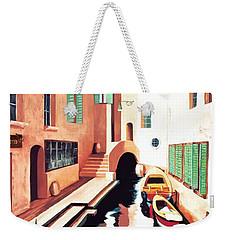 Streets Of Venice - Prints From Original Oil Painting Weekender Tote Bag