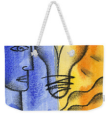 Weekender Tote Bag featuring the painting Success by Leon Zernitsky