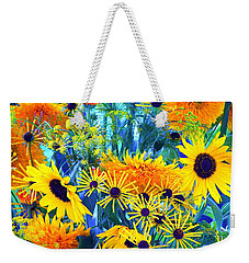 Weekender Tote Bag featuring the photograph Summer Bouquet by Byron Varvarigos