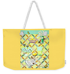Summer Lavender Lemonade Weekender Tote Bag