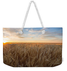 Weekender Tote Bag featuring the photograph Summer Wheat by Lynn Hopwood