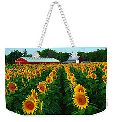 Sunflower Field #4 Weekender Tote Bag