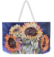 Sunflowers Weekender Tote Bag by Nadine Dennis