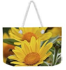 Weekender Tote Bag featuring the photograph Sunflowers  by Saija Lehtonen