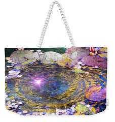 Sunglint On Autumn Lily Pond II Weekender Tote Bag