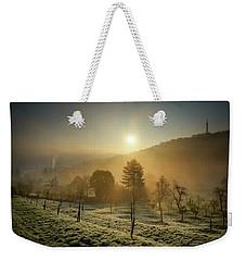 Sunrise From Petrin Yard In Prague, Czech Republic Weekender Tote Bag