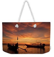 Sunrise On Koh Tao Island In Thailand Weekender Tote Bag by Tamara Sushko