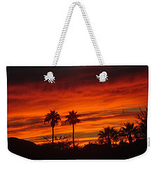 Sunrise Over Palm Desert Weekender Tote Bag