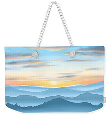Weekender Tote Bag featuring the painting Sunrise by Veronica Minozzi