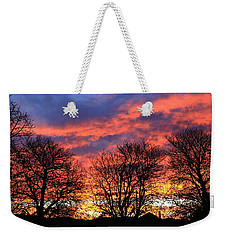 Weekender Tote Bag featuring the photograph Sunset And Filigree by Nareeta Martin