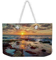 Weekender Tote Bag featuring the photograph Sunset At La Jolla  by Rikk Flohr