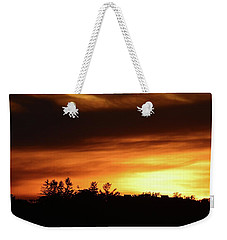 Sunset Behind The Clouds  Weekender Tote Bag by Lyle Crump