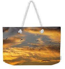 Sunset Flight Weekender Tote Bag by AJ Schibig