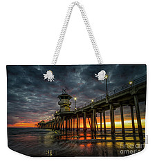 Sunset Huntington Beach Pier  Weekender Tote Bag