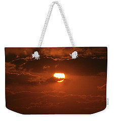 Weekender Tote Bag featuring the photograph Sunset by Linda Ferreira