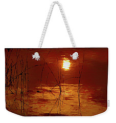 Sunset On The Bay Weekender Tote Bag by Andrea Kollo