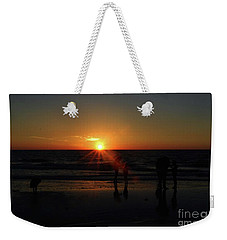 Sunset On The Beach Weekender Tote Bag by Gary Wonning
