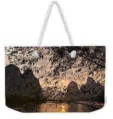 Sunset On The Li River Weekender Tote Bag