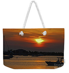 Weekender Tote Bag featuring the photograph 1- Sunset Over The Intracoastal by Joseph Keane