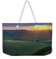 Sunset Over The South Downs Weekender Tote Bag