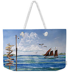 Schooner Jolly II Key West Florida Weekender Tote Bag