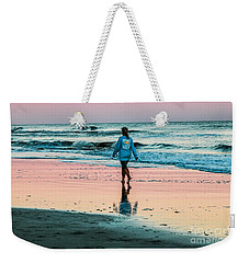 Sunset Stroll In The Surf Hilton Head Weekender Tote Bag