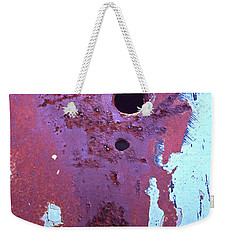 Weekender Tote Bag featuring the photograph Super Hero by Jim Vance