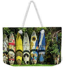 Surfboard Fence Maui Hawaii Weekender Tote Bag