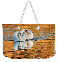 Swimming On Gold Weekender Tote Bag