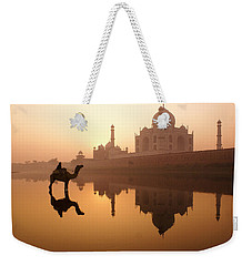 Taj Mahal At Sunrise Weekender Tote Bag