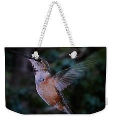Tan Hummingbird Weekender Tote Bag