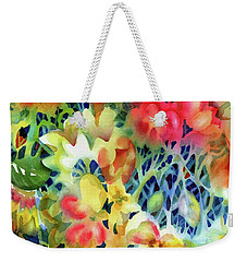 Tangled Blooms Weekender Tote Bag