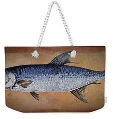 Weekender Tote Bag featuring the painting Tarpan by Andrew Drozdowicz