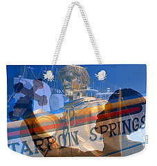 Weekender Tote Bag featuring the photograph Tarpon Springs Florida Mash Up by David Lee Thompson